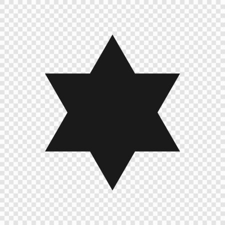6 point classic star. Vector illustration . Template for your design Illustration