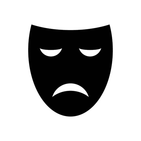 sad theater mask vector icon . Template for your design