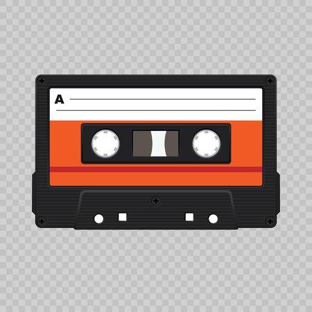 Realistic retro audio cassette tape . Template for your design Illustration
