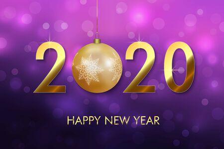 Happy New Year 2020 background. Greeting card, flyers, invitation, posters brochure banners design Vektoros illusztráció