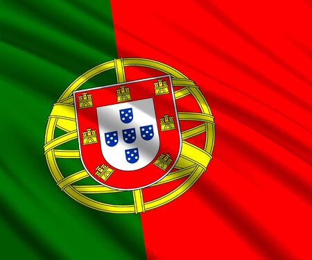 Background with 3d waving flag of Portugal Иллюстрация