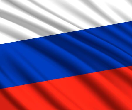 Background with 3d waving flag of Russia