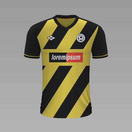 Realistic soccer shirt AEK 2020, jersey template for football kit