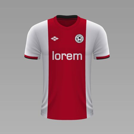 Realistic soccer shirt Ajax 2020, jersey template for football kit