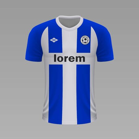 Realistic soccer shirt Alaves 2020, jersey template for football kit. Vector illustration Illustration