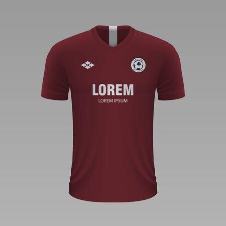 Realistic soccer shirt Metz 2020, jersey template for football kit. Vector illustration