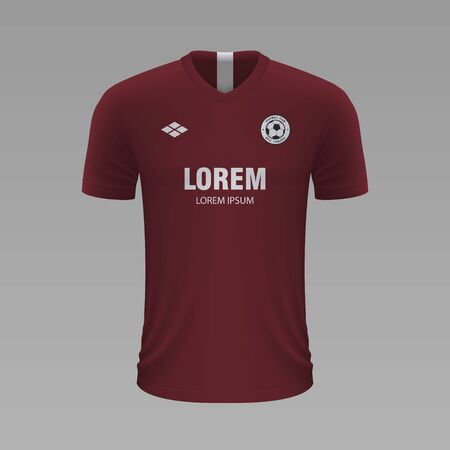 Realistic soccer shirt Metz 2020, jersey template for football kit. Vector illustration