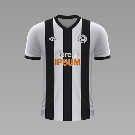 Realistic soccer shirt Atletico Mineiro 2020, jersey template for football kit