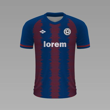 Realistic soccer shirt Levante 2020, jersey template for football kit. Vector illustration Illustration
