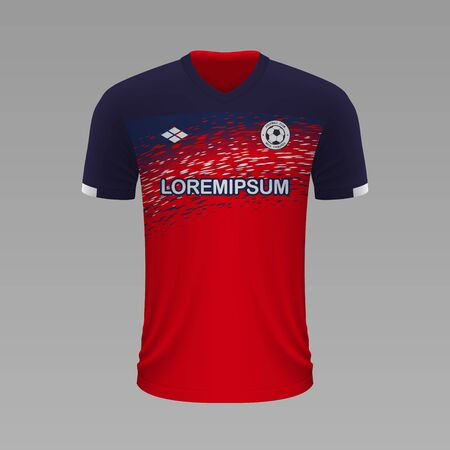 Realistic soccer shirt Lille 2020, jersey template for football kit. Vector illustration Illustration