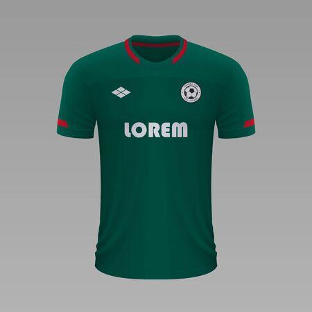 Realistic soccer shirt Lokomotiv 2020, jersey template for football kit