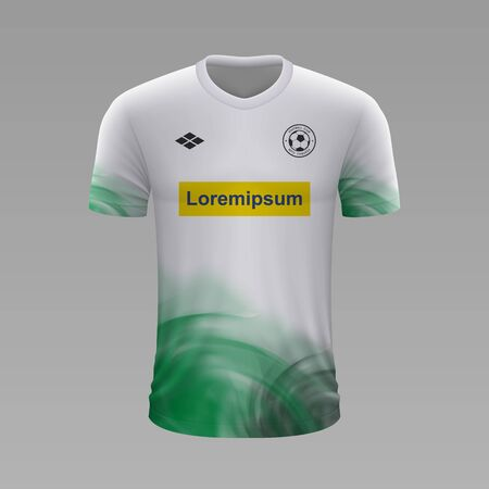 Realistic soccer shirt Borussia Monchengladbach 2020, jersey template for football kit