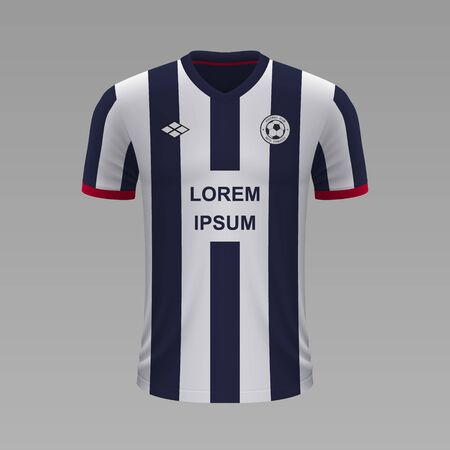 Realistic soccer shirt Monterrey 2020, jersey template for football kit