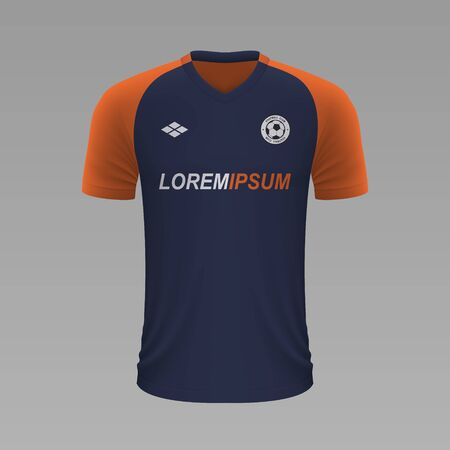 Realistic soccer shirt Montpellier 2020, jersey template for football kit. Vector illustration Illustration