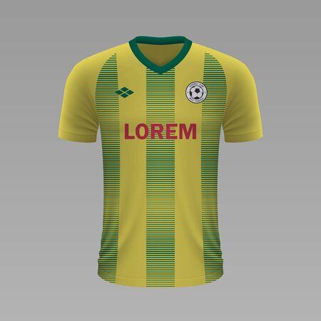 Realistic soccer shirt Nantes 2020, jersey template for football kit. Vector illustration