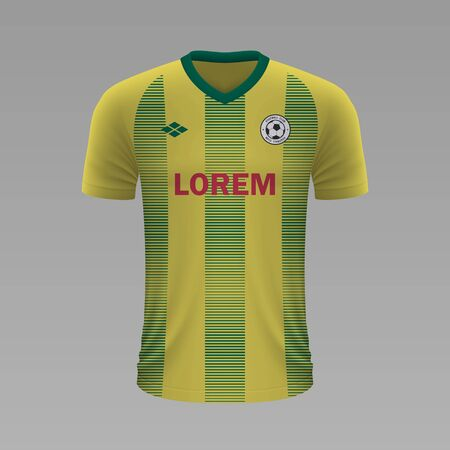 Realistic soccer shirt Nantes 2020, jersey template for football kit. Vector illustration