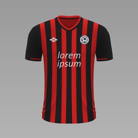 Realistic soccer shirt Nice 2020, jersey template for football kit. Vector illustration Stock Illustratie