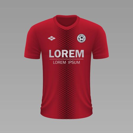 Realistic soccer shirt Nimes 2020, jersey template for football kit. Vector illustration