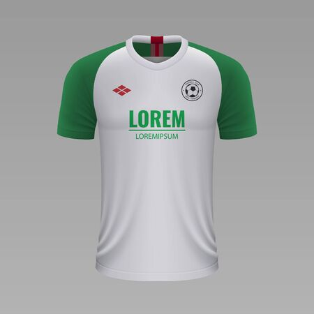 Realistic soccer shirt Augsburg 2020, jersey template for football kit