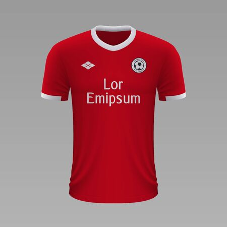 Realistic soccer shirt Benfica 2020, jersey template for football kit Illustration