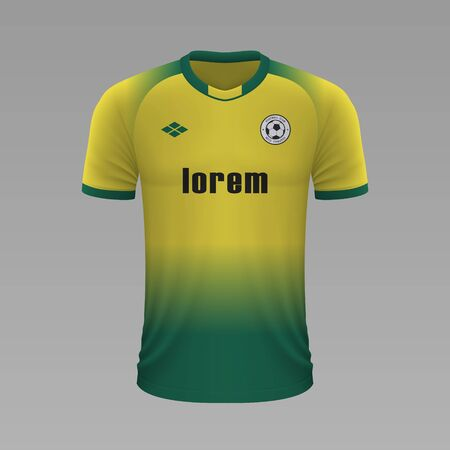 Realistic soccer shirt Norwich 2020, jersey template for football kit. Vector illustration