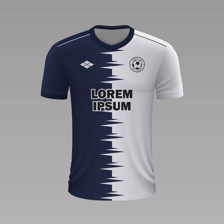 Realistic soccer shirt Pachuca 2020, jersey template for football kit