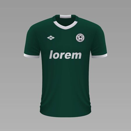 Realistic soccer shirt Palmeiras 2020, jersey template for football kit Illustration