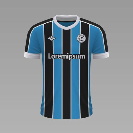 Realistic soccer shirt Gremio 2020, jersey template for football kit