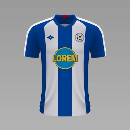 Realistic soccer shirt Hertha 2020, jersey template for football kit