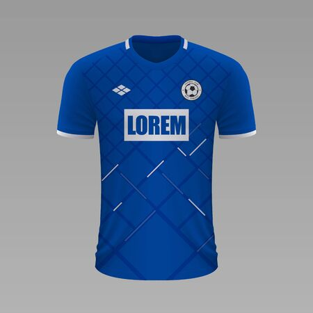 Realistic soccer shirt Hoffenheim 2020, jersey template for football kit Illustration