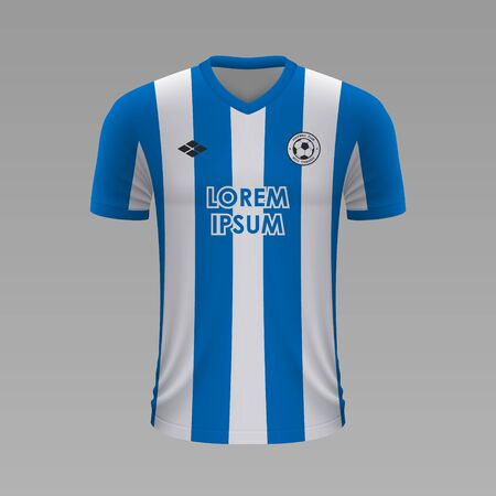 Realistic soccer shirt Real Sociedad 2020, jersey template for football kit. Vector illustration