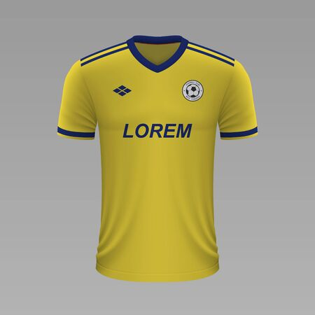 Realistic soccer shirt Rostov 2020, jersey template for football kit
