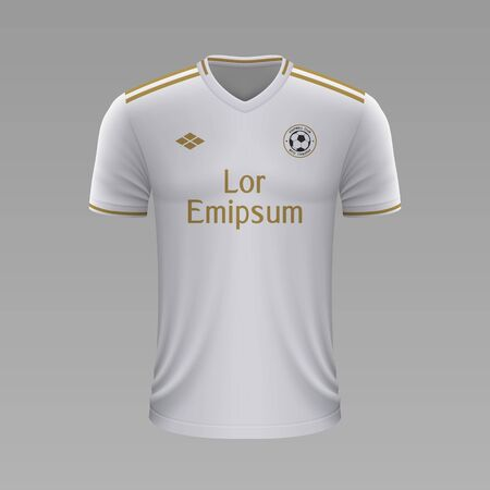 best service e57cd 5bb69 Realistic soccer shirt Real Madrid 2020, jersey template for..