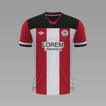 Realistic soccer shirt Southampton 2020, jersey template for football kit. Vector illustration