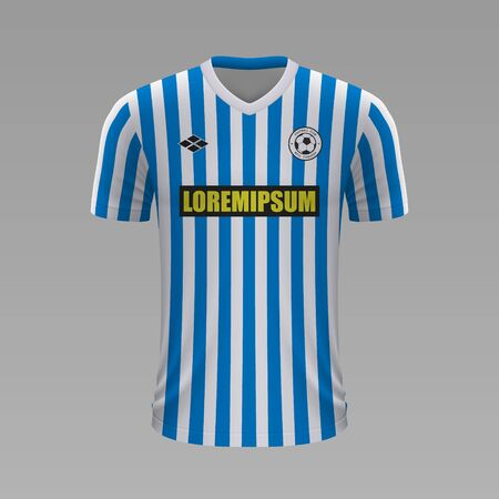 Realistic soccer shirt SPAL 2020, jersey template for football kit Illustration