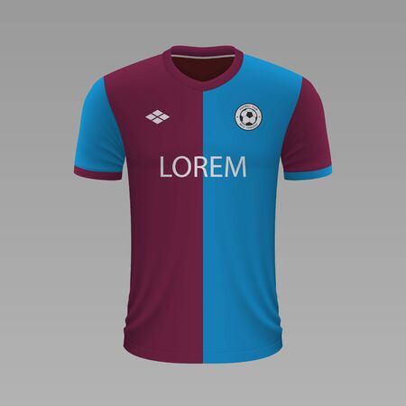 Realistic soccer shirt Trabzonspor 2020, jersey template for football kit