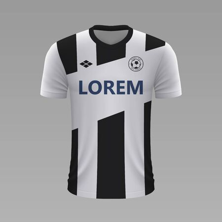 Realistic soccer shirt Udinese 2020, jersey template for football kit Illustration