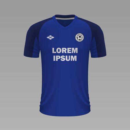 Realistic soccer shirt Cruz Azul 2020, jersey template for football kit