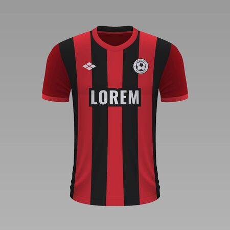 Realistic soccer shirt Bournemouth 2020, jersey template for football kit. Vector illustration