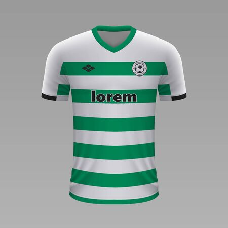 Realistic soccer shirt Celtic 2020, jersey template for football kit Vettoriali
