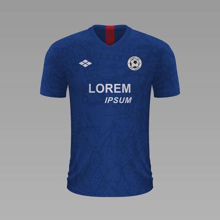 Realistic soccer shirt Chelsea 2020, jersey template for football kit. Vector illustration