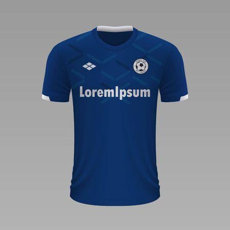 Realistic soccer shirt Everton 2020, jersey template for football kit. Vector illustration