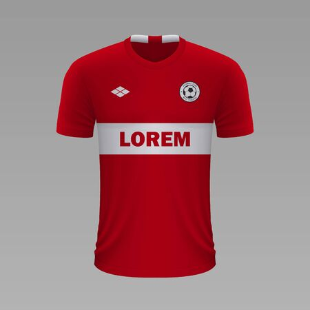 Realistic soccer shirt Spartak 2020, jersey template for football kit