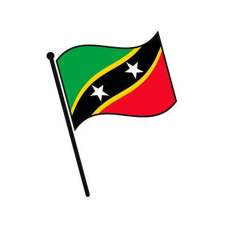 Simple flag Saint Kitts icon isolated on white background