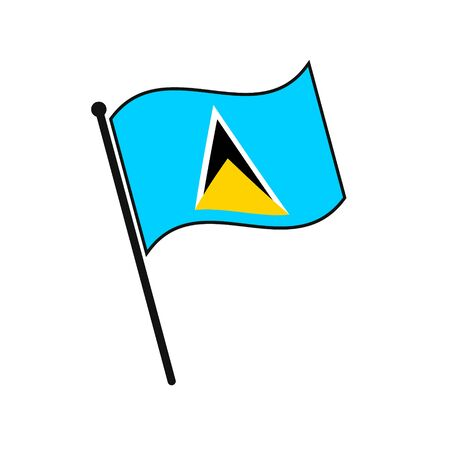 Simple flag Saint Lucia icon isolated on white background