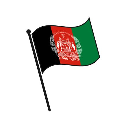 Simple flag Afghanistan icon isolated on white background