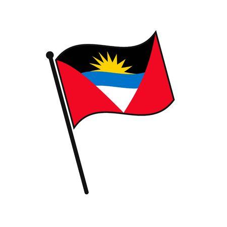 Simple flag Antigua icon isolated on white background