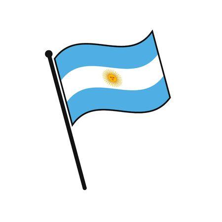 Simple flag  Argentina icon isolated on white background Illustration
