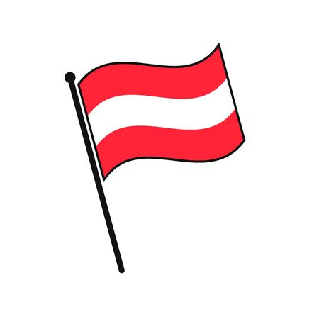 Simple flag Austria icon isolated on white background