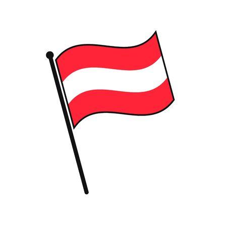 Simple flag Austria icon isolated on white background
